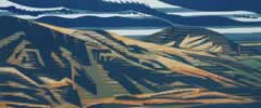 "View from Rhinog Fach : Wood Cut : Limited Edition of 25 (30"" x 12"")"