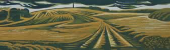 "Monument at Wychbury Hill : Wood Cut : Limited Edition of 25 (30"" x 9.5"")"