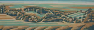 "Teme Valley : Wood Cut : Limited Edition of 25 (30"" x 10"")"