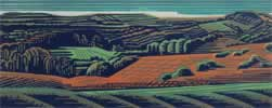 "Chase End, Malverns : Wood Cut : Limited Edition of 25 (30"" x 12"")"