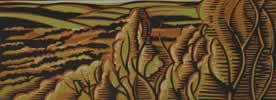 "Kinver Edge : Wood Cut : Limited Edition of 30 (24"" x 9"")"