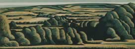 "Summer Landscape : Wood Cut : Limited Edition of 30 (24"" x 9"")"