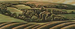 "Walton Hill, Clent : Wood Cut : Limited Edition of 30 (24"" x 10"")"