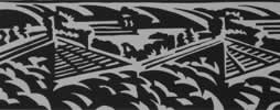 "Landscape : Lino Cut : Limited Edition of 30 (12"" x 5"")"